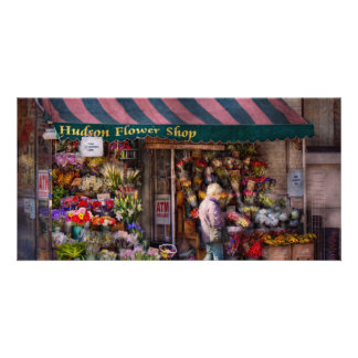 Flower Shop - NY - Chelsea - Hudson Flower Shop Custom Photo Card