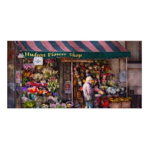 Flower Shop - NY - Chelsea - Hudson Flower Shop Photo Cards