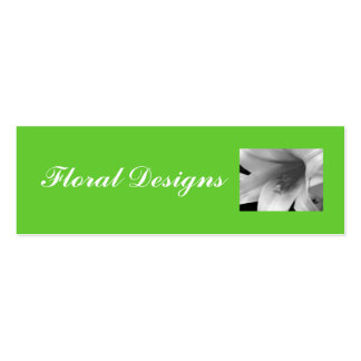 Flower Shop Profile Card Pack Of Skinny Business Cards