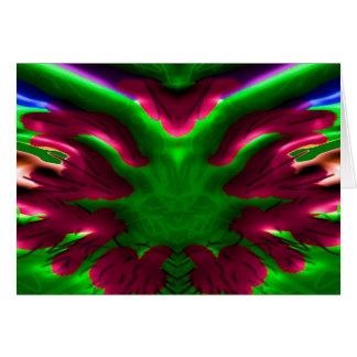 Flower Show - Desert Cactus Nucleus Greeting Card
