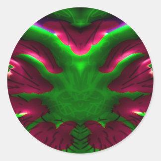 Flower Show - Desert Cactus Nucleus Round Sticker