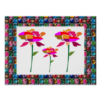 FLOWER SHOW  FlowerShow GEM JEWEL BORDER Posters