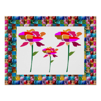 FLOWER SHOW  FlowerShow GEM JEWEL BORDER Poster