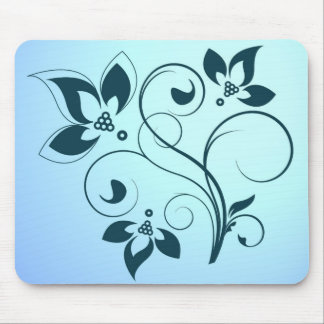 flower silhouette mouse pad