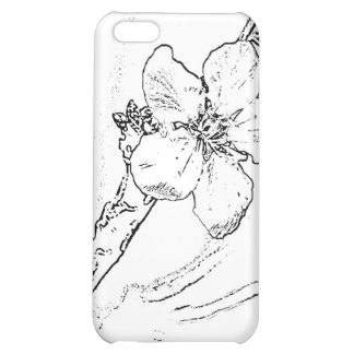 Flower Sketch iPhone 5C Covers