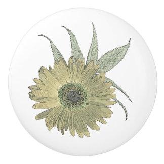flower sketch knob