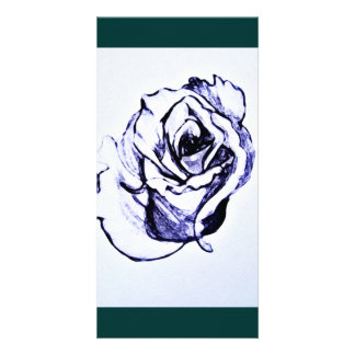 Flower Sketch Personalized Photo Card