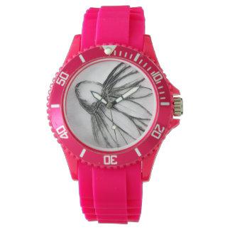 Flower Sketch Wrist Watch