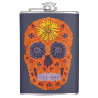 Flower Skull 1 Hip Flask