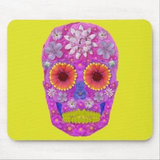 Flower Skull 2 Mouse Pad