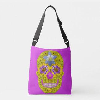 Flower Skull 3 Crossbody Bag