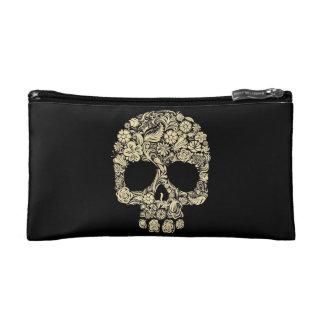 Flower Skull Cosmetic Bag