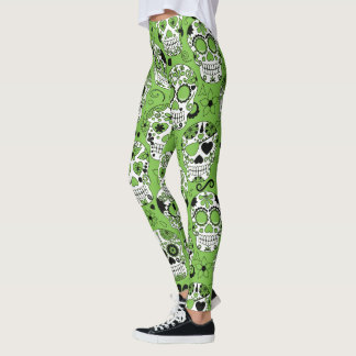 Flower Skull Leggings
