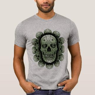 Flower Skull Metallic T-Shirt