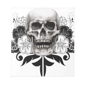 Flower & Skull Notepad