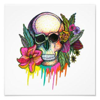 Flower Skull Art Photo