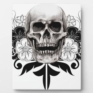 Flower & Skull Plaque