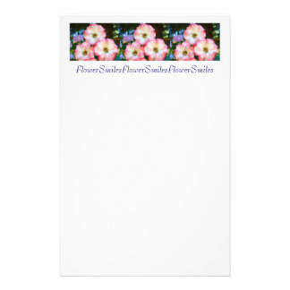 Flower Smiles stationery Pink White Rose Garden