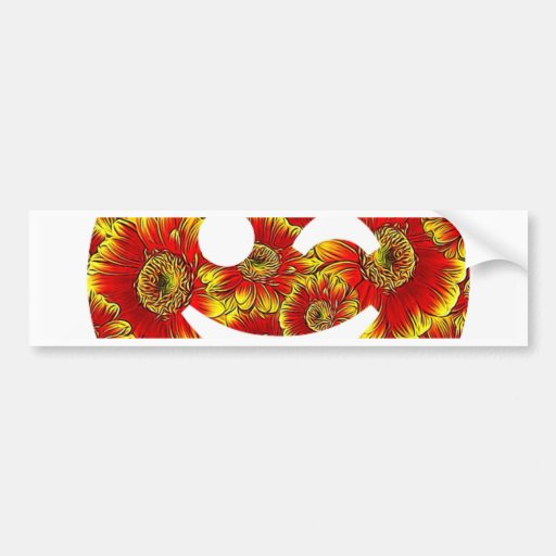 flower smiley,wink bumper sticker