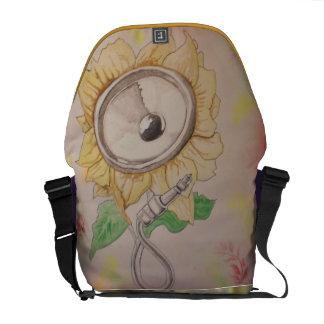 Flower speaker by Matty B Commuter Bag