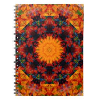 flower spiral notebook
