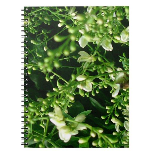 Flower spiral photo note book
