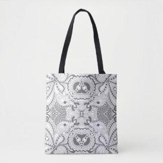 Flower Square Doodle 2 Tote Bag