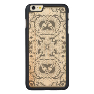 Flower Square Doodle Carved® Maple iPhone 6 Plus Case