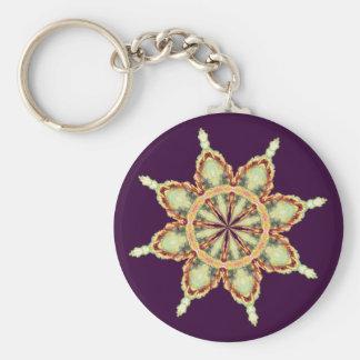 FLOWER STAR by SHARON SHARPE Key Chain