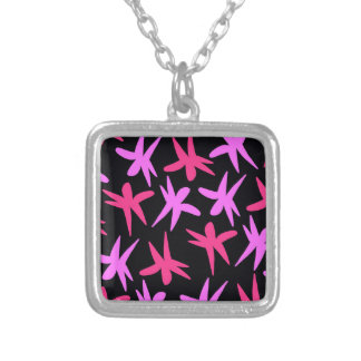 Flower Stars Silver Plated Necklace