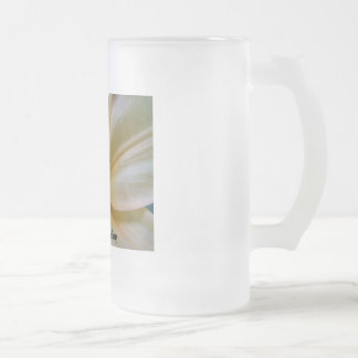 flower, start a fresh day frosted glass mug