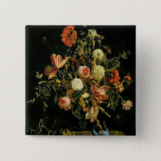 Flower Still Life, 1706 15 Cm Square Badge