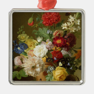 Flower Still Life on a marble ledge, 1800-01 Christmas Ornament