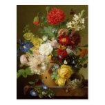 Flower Still Life on a marble ledge, 1800-01 Postcard