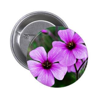 Flower Subject 6 Cm Round Badge