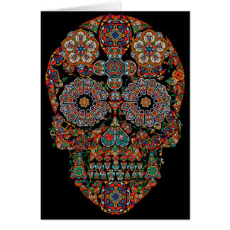 Flower Sugar Skull Greeting Card