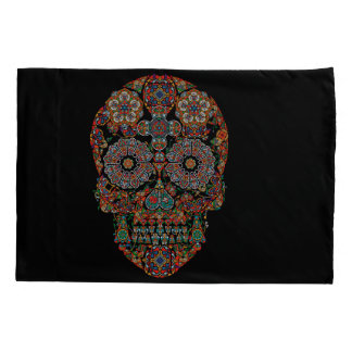 Flower Sugar Skull Pillowcase
