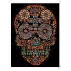 Flower Sugar Skull Postcard