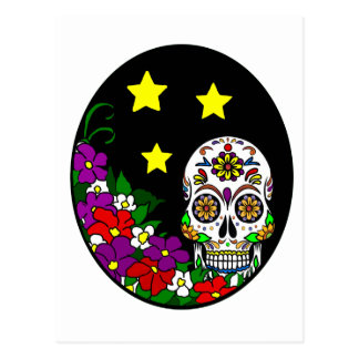 Flower Sugar Skull Postcard