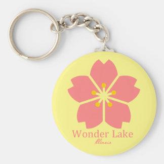 """Flower Sunglow 2.25"""" Basic Button Keychain"""