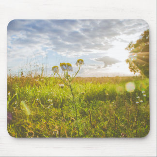 Flower Sunset Happy Mouse Pad