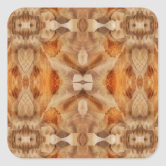 Flower symmetry square sticker
