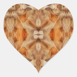 Flower symmetry heart sticker