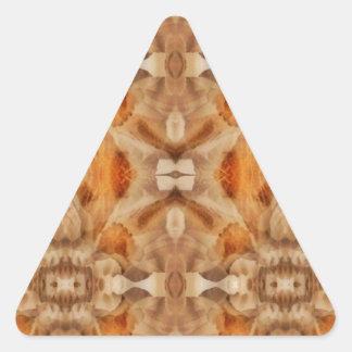 Flower symmetry triangle sticker