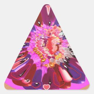 Flower Talk - Open your heart Triangle Sticker