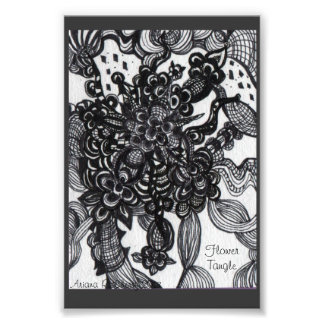 Flower Tangle Inspired Photographic Print