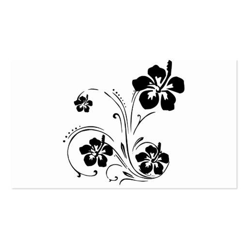 Flower tattoo pack of standard business cards zazzle for Tattoo business cards templates free