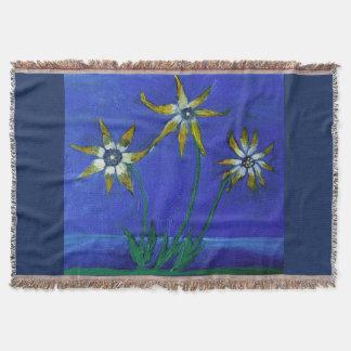 Flower textured art  Throw Blanket