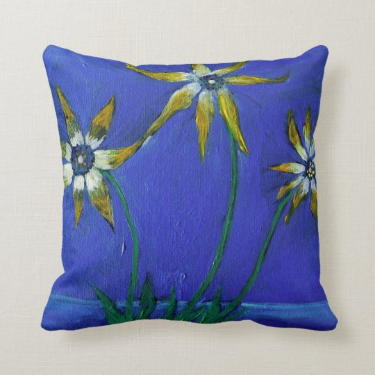 Flower textured art Throw Cushion 41 cm x