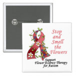 Flower Therapy for Autism Badges